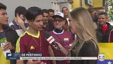 Grupo abrigado em BH aposta na vitória da Venezuela - Eles ganharam ingressos para assistir a jogo da Copa América.