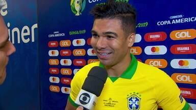 """Fora da próxima partida, Casemiro comemora gol pelo Brasil: """"Estou muito feliz"""" - Fora da próxima partida, Casemiro comemora gol pelo Brasil: """"Estou muito feliz"""""""