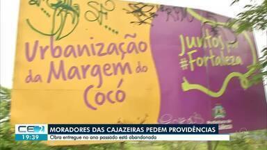 Moradores das Cajazeiras pedem providências - Obra entregue no ano passado está abandonada.