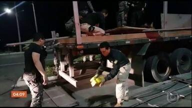 Polícia Rodoviária apreende oito toneladas de maconha em Pernambuco - Foi a maior apreensão de drogas em Pernambuco, neste ano. A apreensão foi no último sábado (22). Corpo do baterista do RPM, Paulo Figueiredo Pagni foi enterrado nesse domingo. Bombeiros e Polícia Militar resgataram turista em Santa Catarina.
