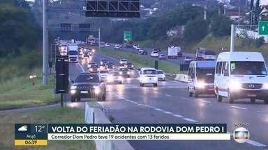 A VOLTA DO FERIADO NAS RODOVIAS DE SP - Repórteres acompanham a movimentação nas principais estradas do Estado na manhã desta segunda-feira..