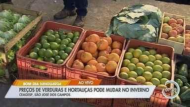 Preços de verduras e hortaliças pode mudar no inverno - No momento, estão mais baratos que no verão.