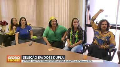 Seleção em dose dupla: vitória na Copa do Mundo feminina, empate na Copa América - Brasilienses pararam o dia para acompanhar os jogos da seleção brasileira.