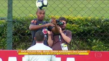 Sem Casemiro, suspenso, Tite já aponta Fernandinho como substituto para as quartas da Copa América - Sem Casemiro, suspenso, Tite já aponta Fernandinho como substituto para as quartas da Copa América