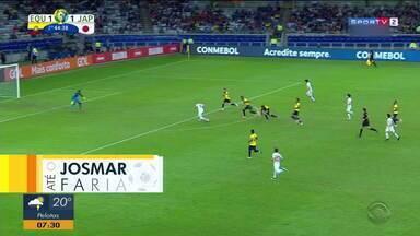 Confira as chances perdidas na partida de Equador x Japão na Copa América - Assista ao vídeo.