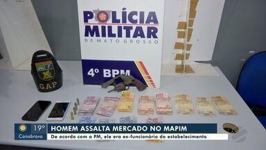 Ex-funcionário assalta mercado no bairro Mapim e acaba preso - Ex-funcionário assalta mercado no bairro Mapim e acaba preso