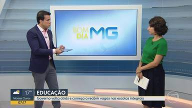 Governo de MG revê decisão e anuncia volta de 81 mil vagas do ensino integral - Entrevista no estúdio com a secretária de estado de Educação de Minas Gerais, Julia Sant'Anna