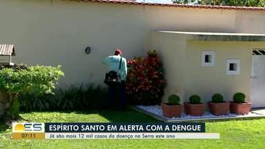 Espírito Santo está em alerta com a dengue - Já são mais de 12 mil casos da doença na Serra.