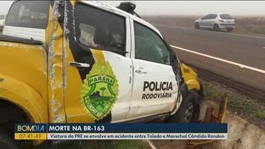 Polícia Militar vai investigar acidente envolvendo viatura da PRE - Segundo testemunhas, policial dirigia na contramão.