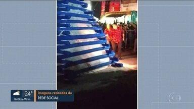 Prefeito de Osasco e primeira-dama são atingidos por explosão em arraial junino - Rogério Lins e Aline Lins passaram a noite internados no Hospital Municipal da cidade depois de sofrer queimaduras graves nos rostos e nos braços.