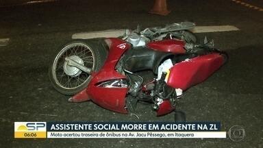 Acidente na Jacu Pêssego, na Zona Leste de São Paulo, deixa um morto - Ocorrência envolveu moto e ônibus no sentido Ayrton Senna da avenida.