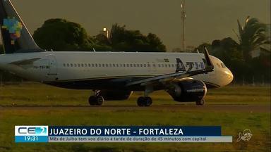 Mês de julho tem voo diário de Juazeiro do Norte para Fortaleza - Confira mais notícias em g1.globo.com/ce