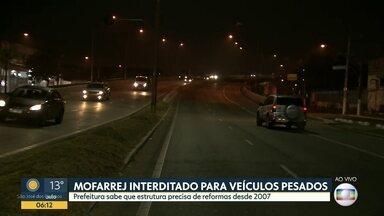 Prefeitura interdita viaduto Mofarrej para veículos pesados - Local é próximo a CEAGESP e muito usado por motoristas de caminhões.