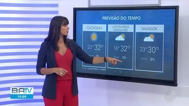 Confira a previsão do tempo em Salvador e no interior do estado - Conforme a meteorologia, previsão é de sol em praticamente todas as regiões da Bahia.