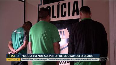 Grupo é preso por roubar óleo de cozinha usado de restaurantes - Eles se passavam por funcionários das empresas que faziam o recolhimento dos galões.