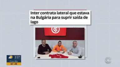 Inter contrata lateral que estava na Bulgária para suprir saída de Iago - Assista ao vídeo.