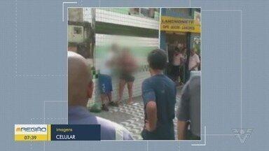 Homem ameaça a ex-mulher com faca em São Vicente - A mulher foi feita de refém em frente ao Hospital Municipal.