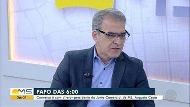 Diretor-presidente da Junta Comercial de MS é o entrevistado do Papo das 6 - Augusto César de Castro fala sobre registro on-line de empresas e outros assuntos.