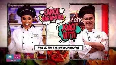 Carol Nakamura e João Vitti disputam a panela de pressão - Vote em quem você quer que continue no 'Super Chef Celebridades 2019'