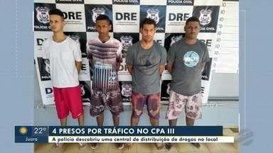 Quatro homens são presos por suspeita de tráfico de drogas no bairro CPA III, em Cuiabá - Quatro homens são presos por suspeita de tráfico de drogas no bairro CPA III, em Cuiabá