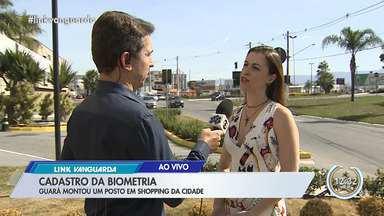 Cartório montou um posto de cadastramento biométrico no shopping em Guará - Veja como fazer o cadastramento.
