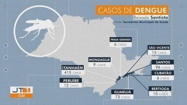 Cresce o número de casos de dengue em Itanhaém - Cidade é a que tem mais registros de casos de dengue na Baixada Santista.