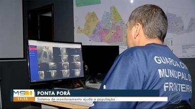 Sistema de monitoramento ajuda a prevenir crimes na fronteira - Em Ponta Porã.