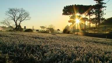 Frio em Erechim: temperatura mínima foi de 0 grau - A previsão é que amanhã a máxima seja de 6 graus.