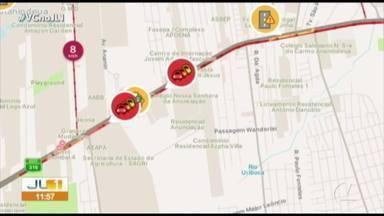Quadro 'Radar' mostra os pontos de congestionamento de Belém - Quadro 'Radar' mostra os pontos de congestionamento de Belém