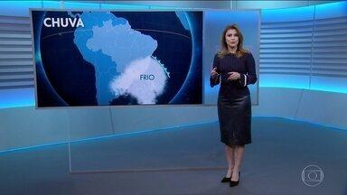 Temperaturas caem na maior parte do país neste sábado (6) - Ar polar avança até o Centro-Oeste do Brasil. Possibilidade de neve e geada no sul e de chuva no sudeste e na Bahia.