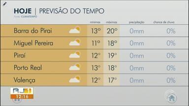 Meteorologia prevê temperaturas ainda mais baixas no fim de semana - Confira a previsão do tempo do Sul do Rio de Janeiro.