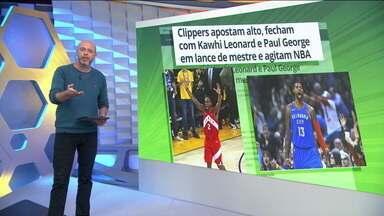 Kawhi Leonard e Paul George fecham com o LA Clippers para próxima temporada da NBA - Kawhi Leonard e Paul George fecham com o LA Clippers para próxima temporada da NBA
