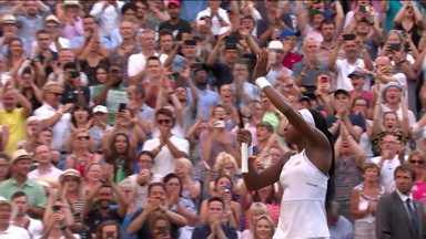 Com apenas 15 anos, Cori Gauff vai às oitavas de final de Wimbledon - Com apenas 15 anos, Cori Gauff vai às oitavas de final de Wimbledon