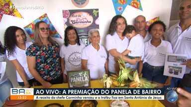 Receita de moqueca de camarão com banana e pirão vence o Panela de Bairro junino - Prato é de uma cozinheira de Santo Antônio de Jesus, no recôncavo baiano.