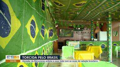 Torcedores do ES se preparam para assistir o jogo do Brasil na final da Copa América 2019 - Capixaba enfeitou toda a casa para a competição continental.