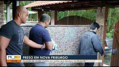 Acusado de vender imóveis em prédio que desabou no Muzema é preso em Nova Friburgo - Assista a seguir.