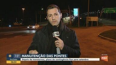 Plano de contingência das pontes de Florianópolis fica para setembro - Plano de contingência das pontes de Florianópolis fica para setembro