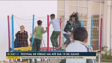Festival de férias vai até o dia 19 de julho - Tem programação para as crianças nas 10 regionais de Curitiba.
