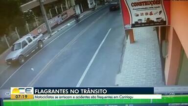 Motociclistas se arriscam e acidentes são frequentes em Caririaçu - Saiba mais em g1.com.br/ce
