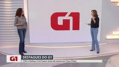 CSN e Defesa Civil fazem teste de sirene em Ouro Preto em caso de rompimento de barragem - Segundo a CSN, além de verificar o alcance do som na Comunidade do Mota, a medição também foi feita nas áreas internas da empresa.