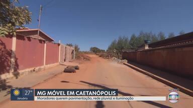 MG Móvel visita Caetanópolis - Moradores da rua Dr. Guilherme Dalle Mascarenhas querem pavimentação, iluminação e rede pluvial.