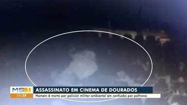 Policial que matou homem dentro de sala de cinema vai passar por audiência de custódia - Crime ocorreu nesta segunda-feira em Dourados.