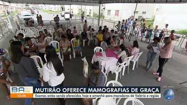 Mutirão oferece exames gratuitos de mamografia para mulheres na região de Valéria - Saiba como ter acesso ao atendimento.