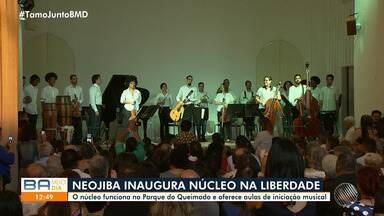 Conheça o novo núcleo da Orquestra Neojiba, que fica no bairro da Liberdade - Crianças da região vão ter acesso a aulas de iniciação musical.