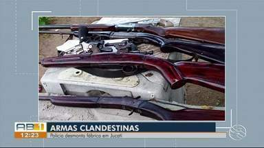 Dupla é presa em fábrica clandestina de armas de fogo na zona rural de Jucati - Descoberta foi feita durante a manhã desta terça-feira (9), na Operação Espinho.