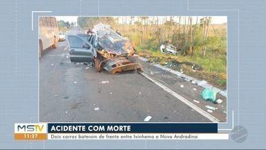 Batida entre dois veículos mata uma pessoa entre Ivinhema e Nova Andradina - Acidente foi na manhã desta terça-feira (9).