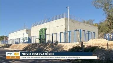 Reservatório põe fim às interrupções no fornecimento de água - Obra demorou cinco anos para ser concluída.