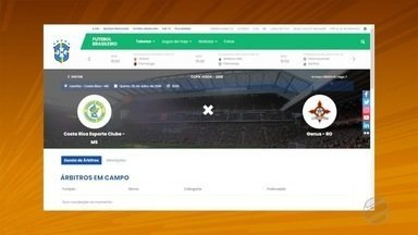 CBF altera horário e estádio da estreia do Costa Rica na Copa Verde - CBF altera horário e estádio da estreia do Costa Rica na Copa Verde