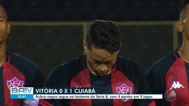 Vitória perde para o Cuiabá no retorno da Série B após a Copa América - Até agora, foram cinco jogos do rubro-negro na competição, sendo um empate e quatro derrotas.