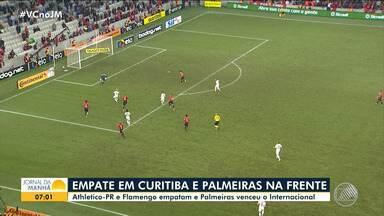 Copa do Brasil: Palmeiras vence o Inter e Athletico-PR empata contra o Flamengo - Os jogos de volta das quartas de final serão nos estádios Beira-Rio e Maracanã, respectivamente.